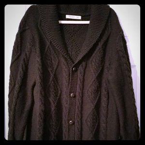 Black Ribbed Sweater XL